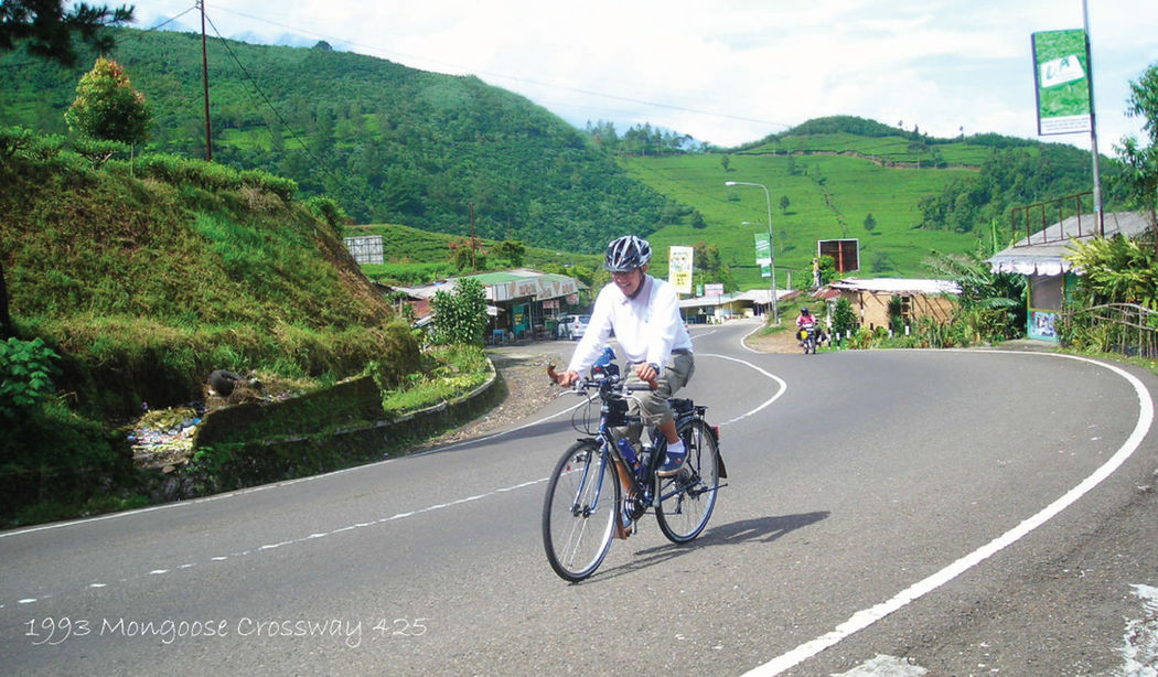 Cycling On The Road Scenery Landscape