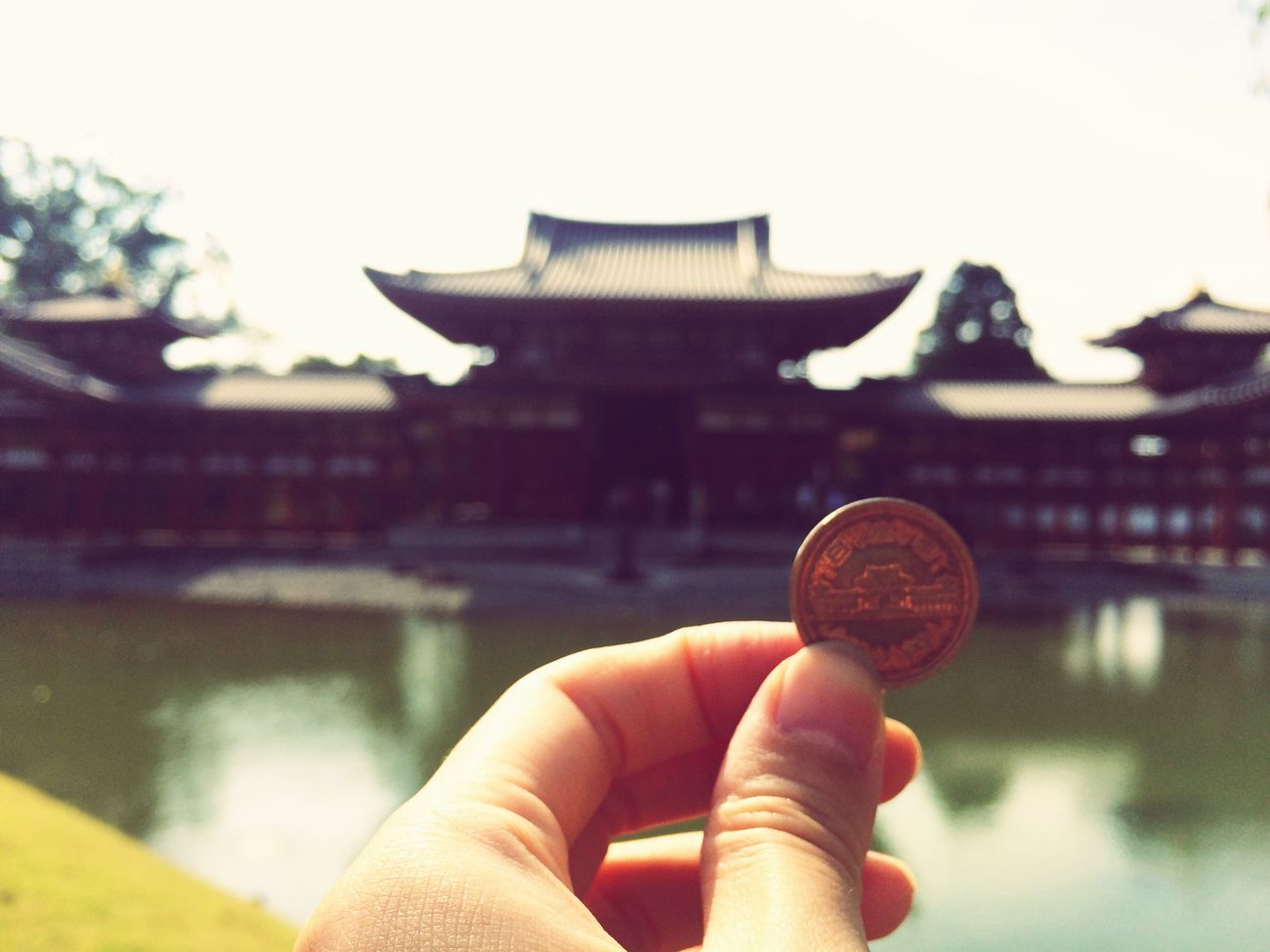 Visited Byodoin in Kyoto Uji . It's famous for Japanese  10yen Coin Picture .