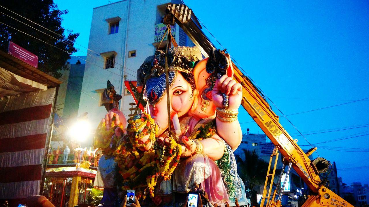 GaneshChaturthi Festival Season Incredibleindia Cityscape Nightcapture MIphotography Hyderabad,India
