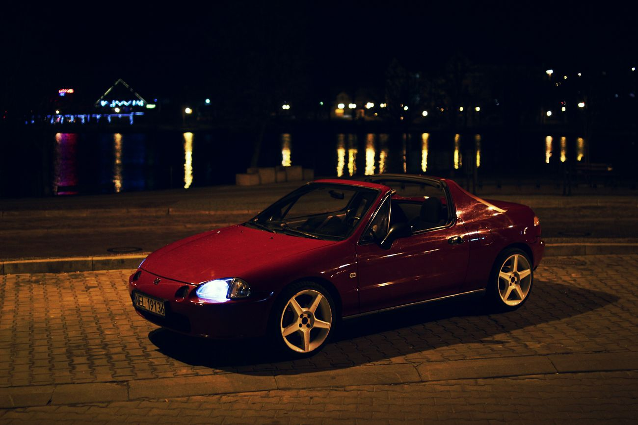 Night Car Honda CRX