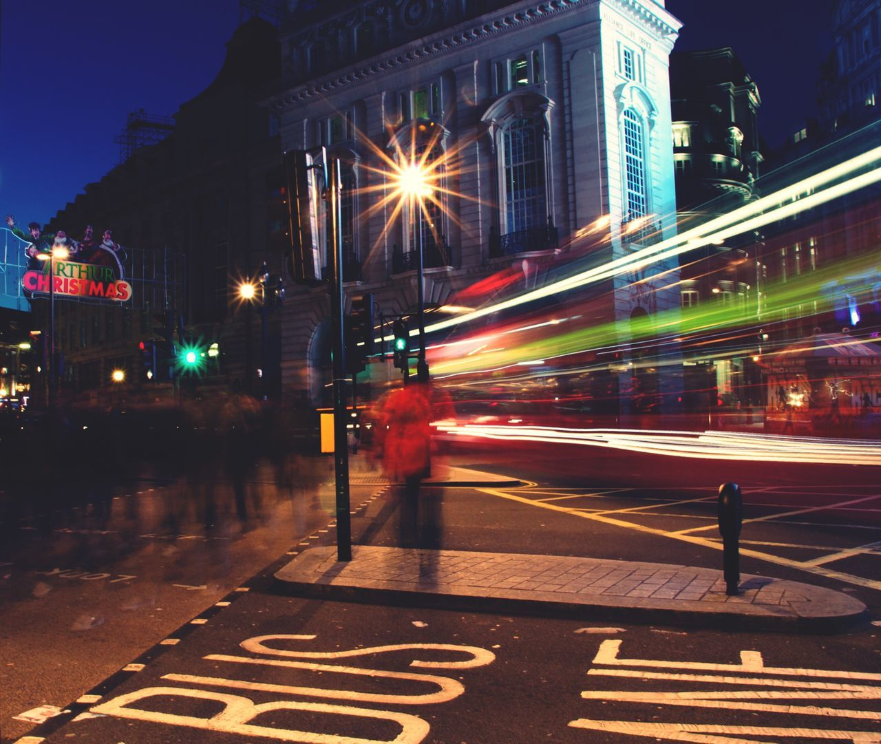 The City Light London Lights London Piccadillycircus People Walking Crossing The Street Bus Lane Bus London Bus Christmas Lights Atmosphere Lights Long Exposure Speed Light And Shadow EyeEm New Here