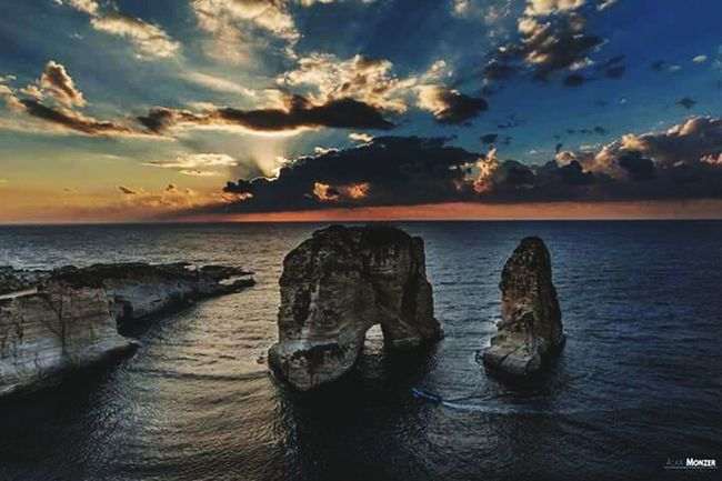 My Country In A Photo Taking Photos Lebanon Sunset_collection Rawshe Rawshe Street Discover Your City Cities_collection Cityview Sunsetporn