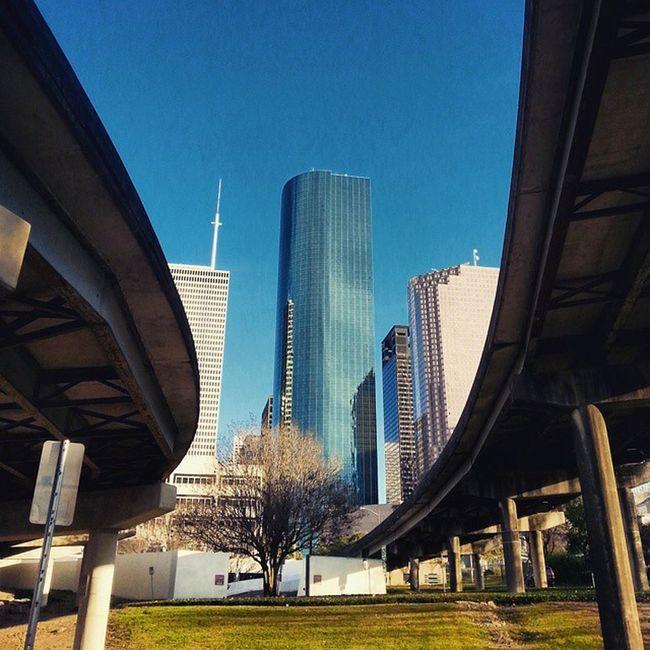 Houston BuffaloBayouTrail Texas Downtown Skyscrapers