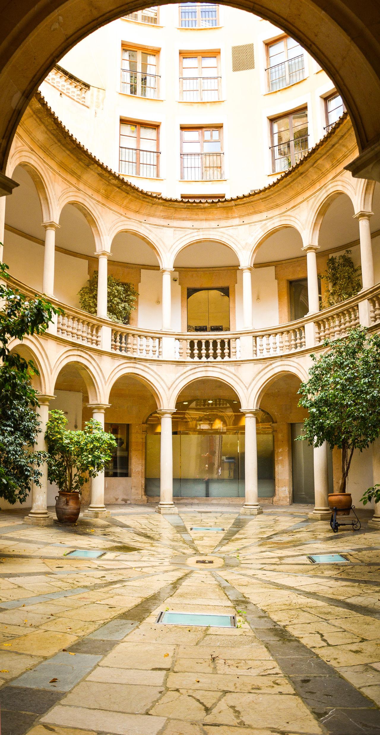 EyeEmNewHere First Eyeem Photo Architecture Mallorca Palma Interior Interior Hall Hall Bright Lovely Tower Arch Symmetry Balcony Inner Balcony