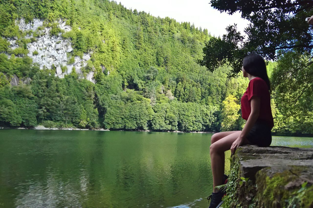 Sao Miguel- Azores Water Green Color Outdoors Sky Nature Lagoon Azores Portugal Beauty In Nature Beauty My Year My View