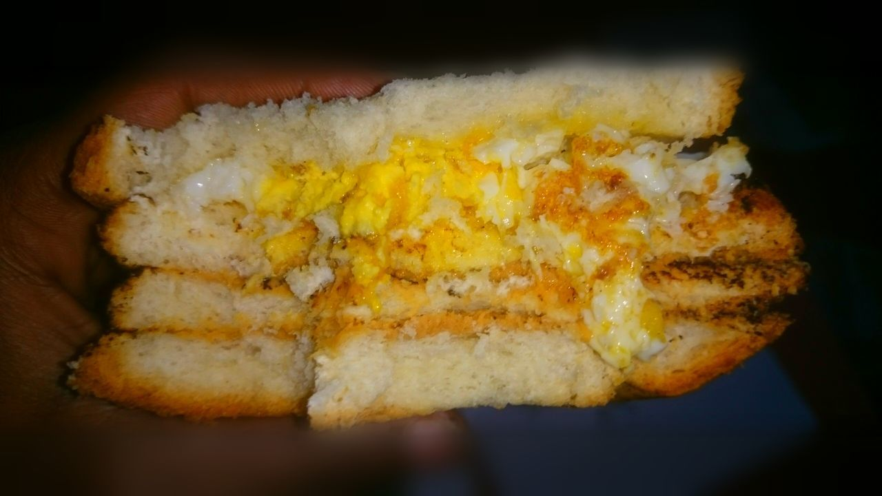 Self cooked Close-up Clicked By Me Landscape Its Real ! Fast Food Egg Bread Butter