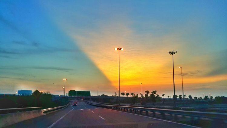 Sunset Drive Evening Sky Light And Shadow Popular Photos Open Edit Frommycar EyeEm Gallery EyeEm Malaysia Creative Light And Shadow