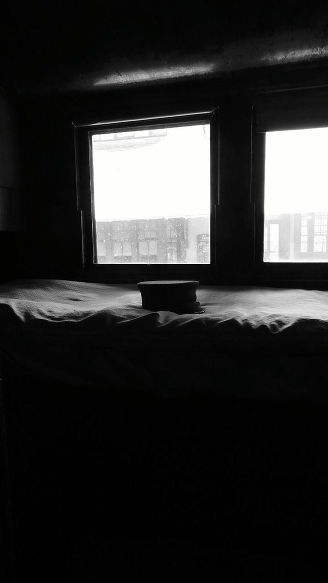 Train Conductor Sleeping Quarters Lying Alone On This Bed Nice View Black And White Collection  OpenEdit Black And White Photography Old Transport Check This Out