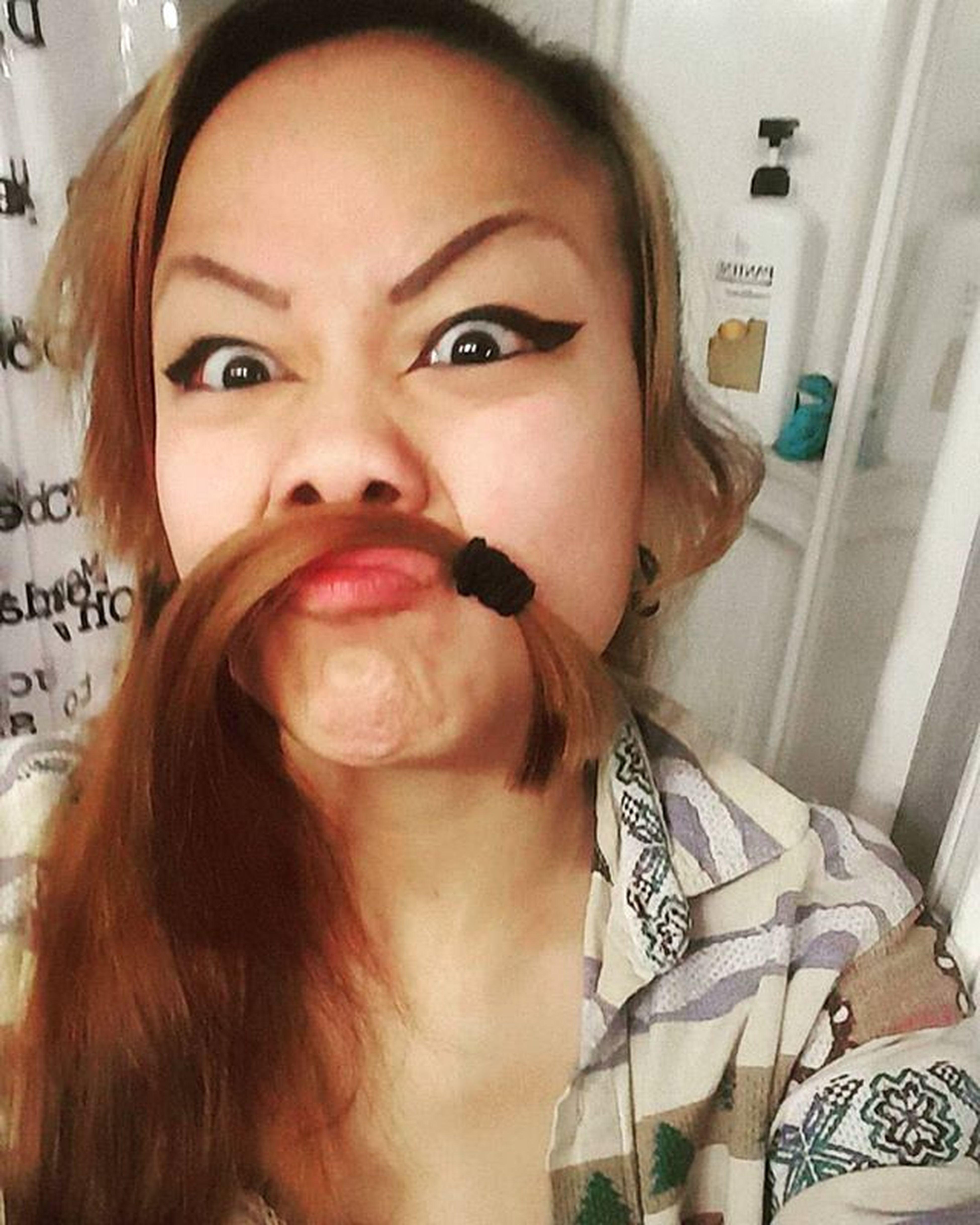 Cuttingmyhair Cutmyhair Mustache Halp Dunnohow Crazyeyes