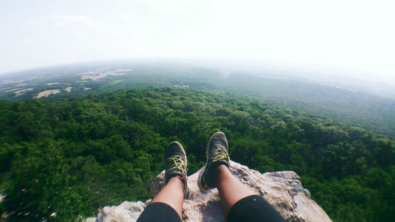 EyeEm Selects Outdoors Human Body Part Day Nature Lifestyles Landscape Beauty In Nature Close-up Grass Human Leg Low Section Tress higher Green Fish-eye Lens Sky High Angle View Rocks Montains    Beautiful View Beautful Nature Only Women One Person One Woman Only Adult Perspectives On Nature