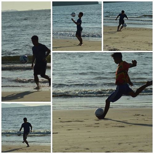 Sibosur beach Sibolga - evening football waiting sunset 31122015... Football Sepakbola Beach Sand Pantai Endofyear Trip Travel Tourism Pariwisata Wisata Sumaterautara