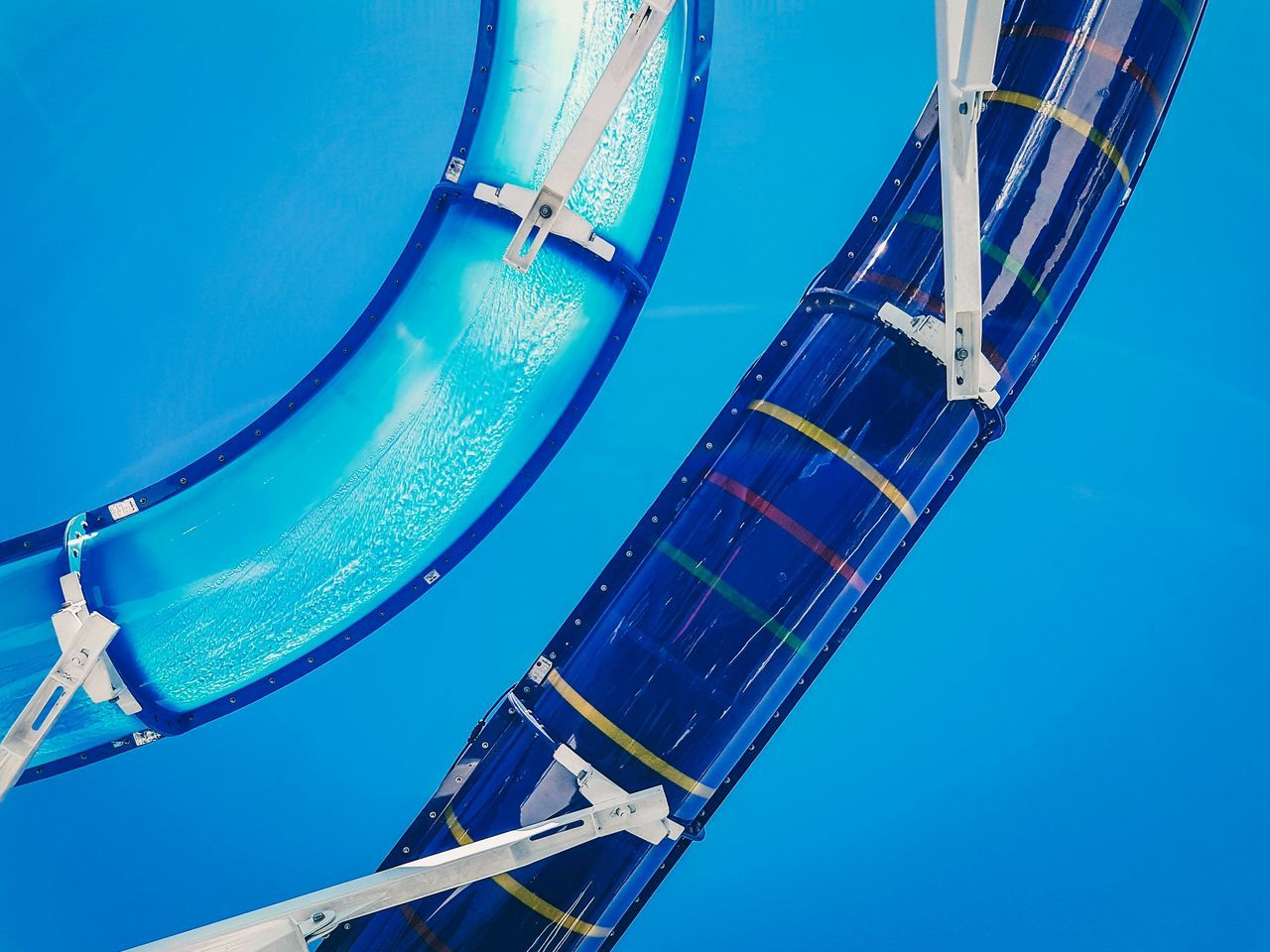 There's something about waterslides on cruise ships... Low angle view blue water day outdoors no people sky shot with mobile Happy The Week on EyeEm Adventures exciting Fun summer Cruise Ship Holiday waterslide springtime