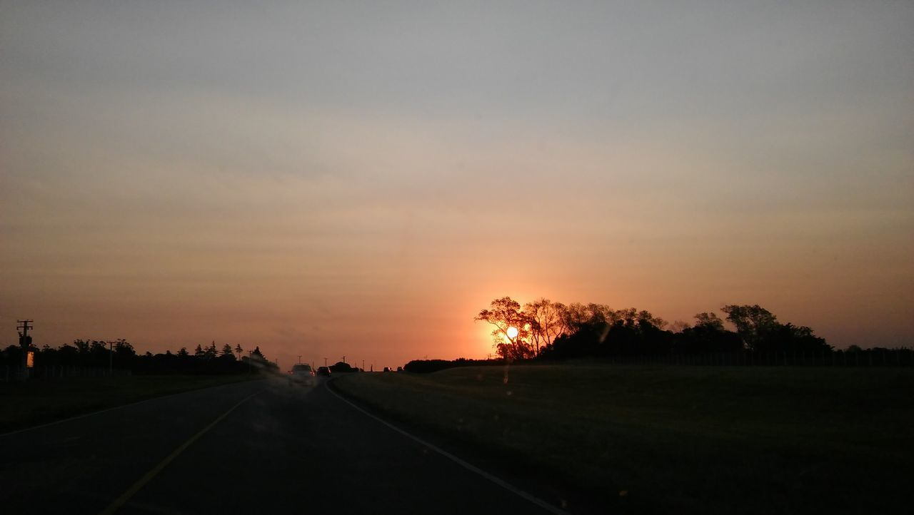 Balcarce, Argentina Beauty In Nature Buenos Aires, Argentina  Day Landscape Nature No People Outdoors Road Scenics Silhouette Sky Sunset The Way Forward Tranquil Scene Tranquility Tree