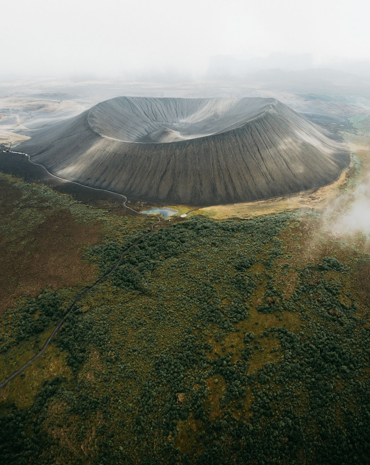 The Hverfjall volcano last erupted 2300 years ago. Adventure Club Aerial Mountains Volcano Aerial Photography Iceland Clouds Europe Landscape Adventure Outdoors Showcase July A Bird's Eye View