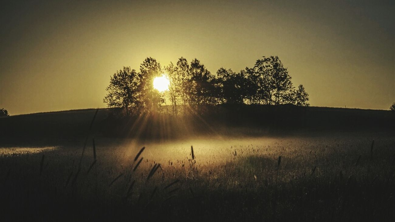 Morning Good Morning Sunrise Sun Beskid Niski Polska