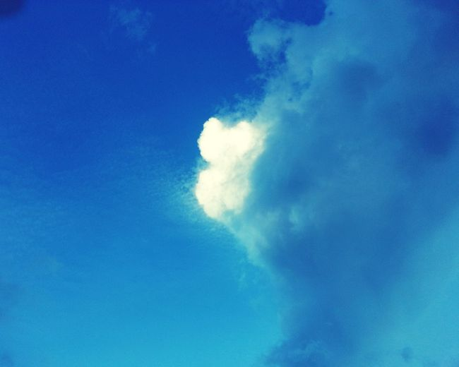 Cloud Strange Cloud Blue Sky Bright Sky White Cloud Grey Cloud Low Angle View Mid-air No People Blue Outdoors Sky Day Airshow
