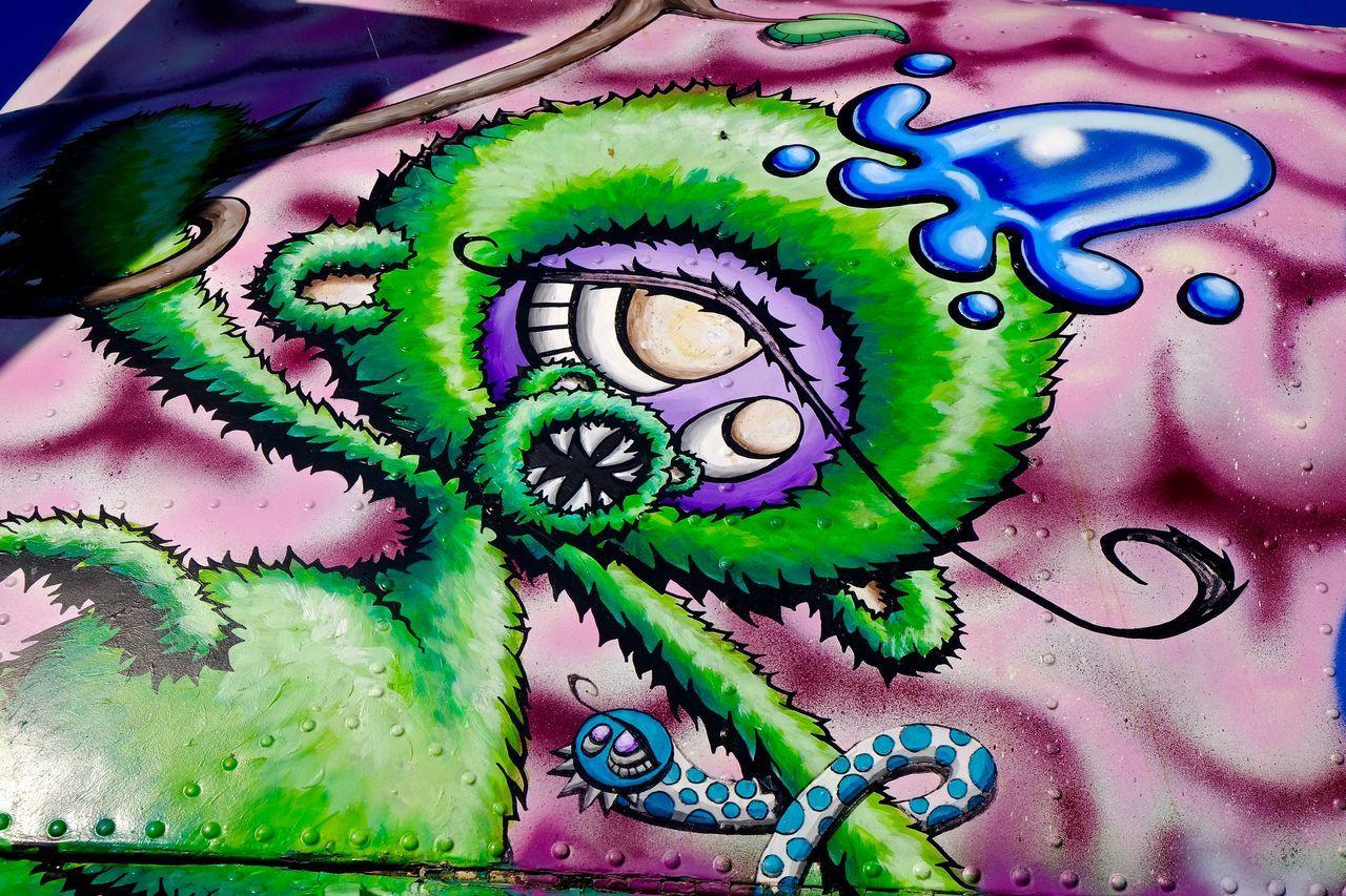 Buchheim Museum Close-up Colored Background Grafitti Grafitti Art. Green Color Multi Colored No People