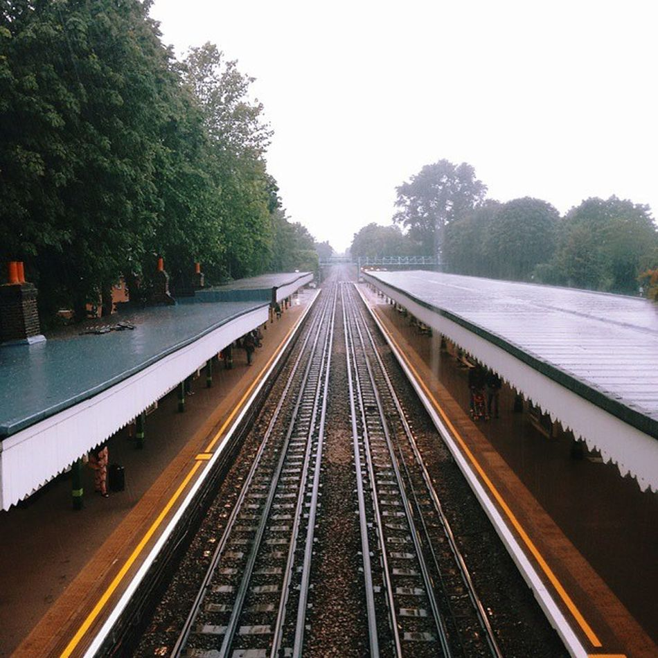 Looking westbound from Snaresbrook. Vscocam VSCO Vscodailydose Vscophile London E11 Snaresbrook Tube Tfl Underground Trains Londonunderground Ig Iglondon