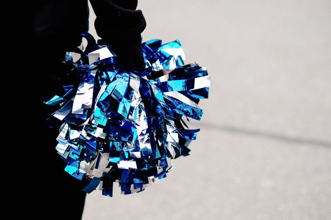 ready Blue Cheerleader Cheerleading Copy Space Streetphotography Unrecognizable Person White