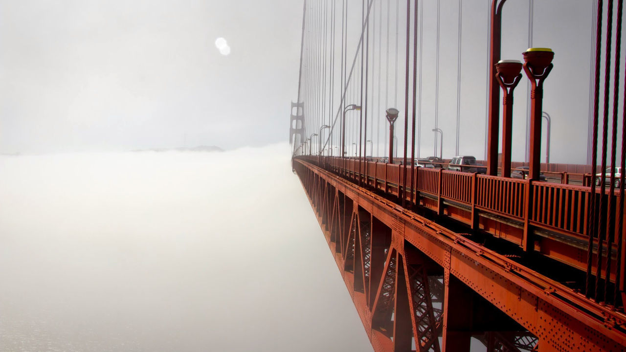 Lovely shot of the foggy Golden Gate Bridge, USA! Architecture Bay Area Beauty In Nature Bridge California Cold Temperature Connection Day Fog Foggy Gate Golden Golden Gate Bridge Road San Francisco Scenics Sea Sky Steel Street Travel USA Water