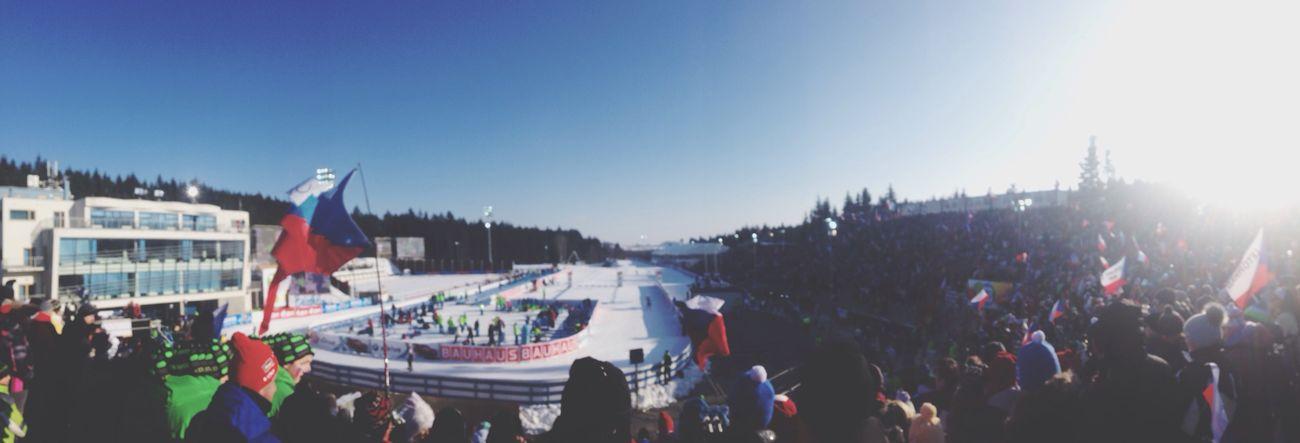 Beautiful Day Biathlon Snow Enjoying The Sun Czech Republic 32.000 Czech Fans Second Place Salamone Winter Snow ❄ Snowflake
