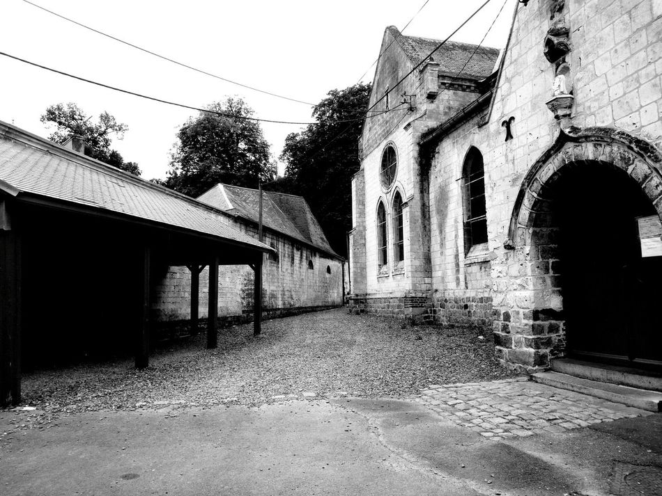 Anciennemaison Formerhome Eglise Church Black & White Grey Kindacreepy Flippant Northern France Welcome To Black