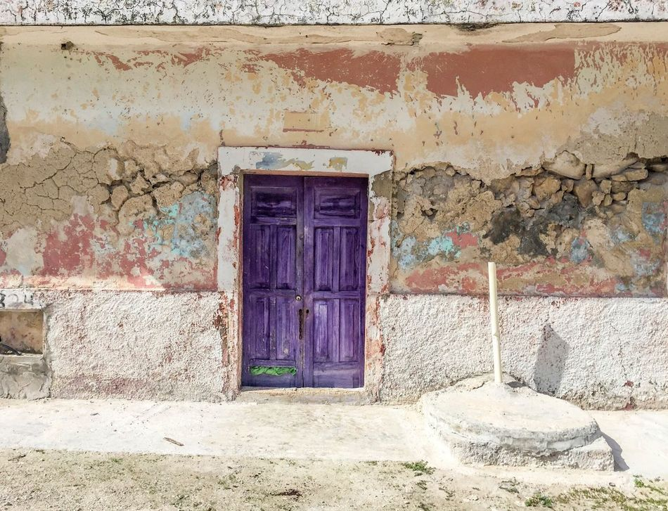 Sunny sleepy street in Telchac, Yukatan, Mexico Door Architecture Outdoors Built Structure Building Exterior House Closed Door Entryway Entrance No People Doorway Day Open Door
