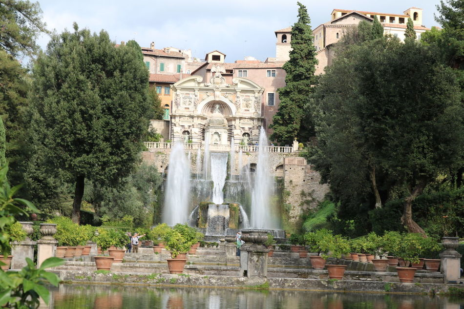 Tivoli, Villa D Este and Garden Architecture Building Exterior Built Structure Day Flowers,Plants & Garden History Italy Nature No People Outdoors Tivoli Tivoli Garden Tree Villa D'Este Water Waterfall