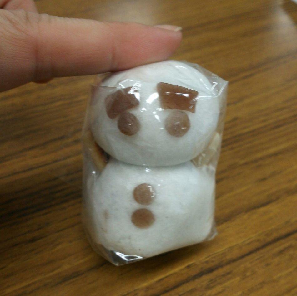 和菓子-wagashi- 和菓子 Japanese  Wagashi まんじゅう Japanese confectionery 雪だるまんヾ(*´∀`*)ノお饅頭です