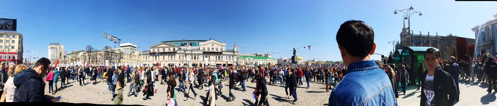С Днём Победы!!! Large Group Of People Built Structure Building Exterior Architecture Real People Men Sky Outdoors Parade Day Blue Panoramic Crowd Clear Sky Women Military Parade City Adult People Adults Only