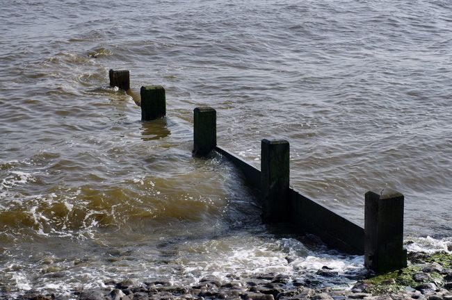 Southend Seafront No People Rippled Sea Seaside Shore Southend On Sea Tide Water Water's Edge Waterfront Wave Wooden Post
