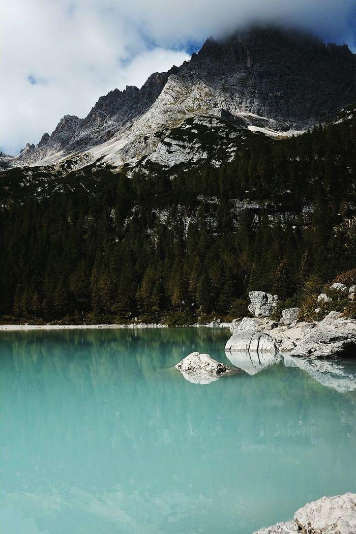 Milky lake. Sorapis Lake Water Scenics Mountain Beauty In Nature Landscape Day Dolomites, Italy Italy Reflection Lake Mountains Hiking Outdoors