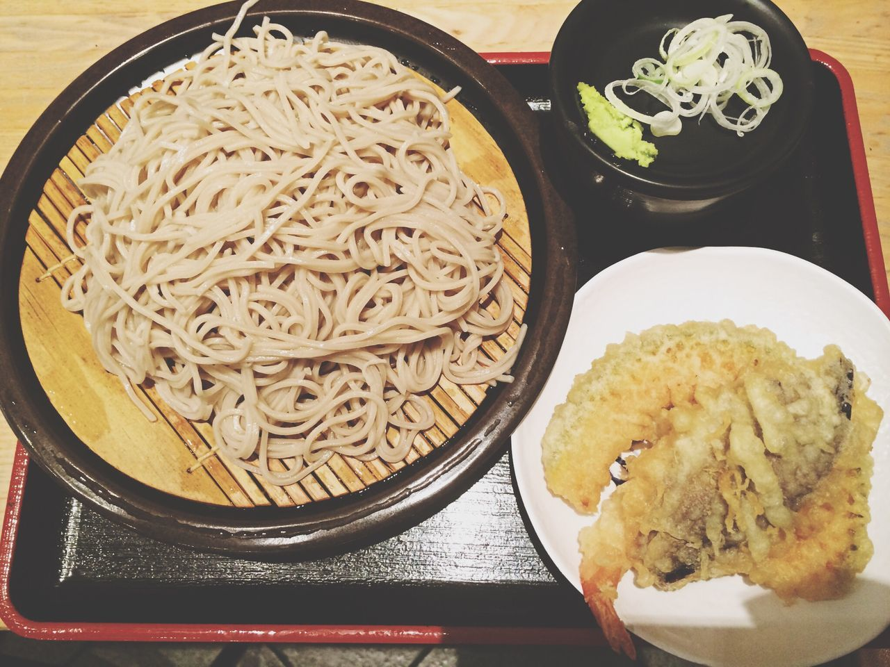 Japanese Food Soba Tenpura