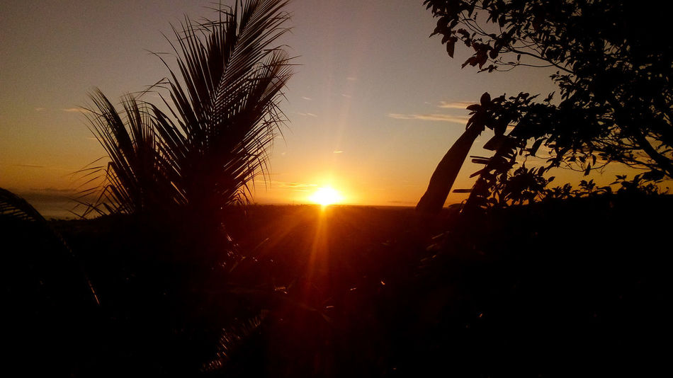 Sunrise, above honiara city, Solomon Islands. Sun Scenics Beauty In Nature Orange Color Nature Outdoors