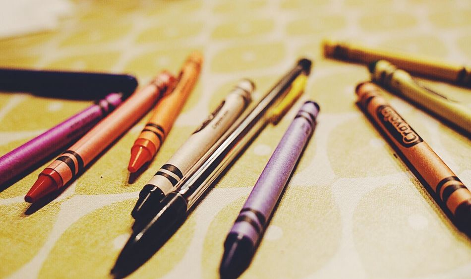 Close-up Indoors  No People Writing Instrument Day Still Life Photography Hobby On The Table Still Life Paint Coloring Colors Crayon Crayons Artist Materials Home Interior Painting Color Coloring Pencils Art