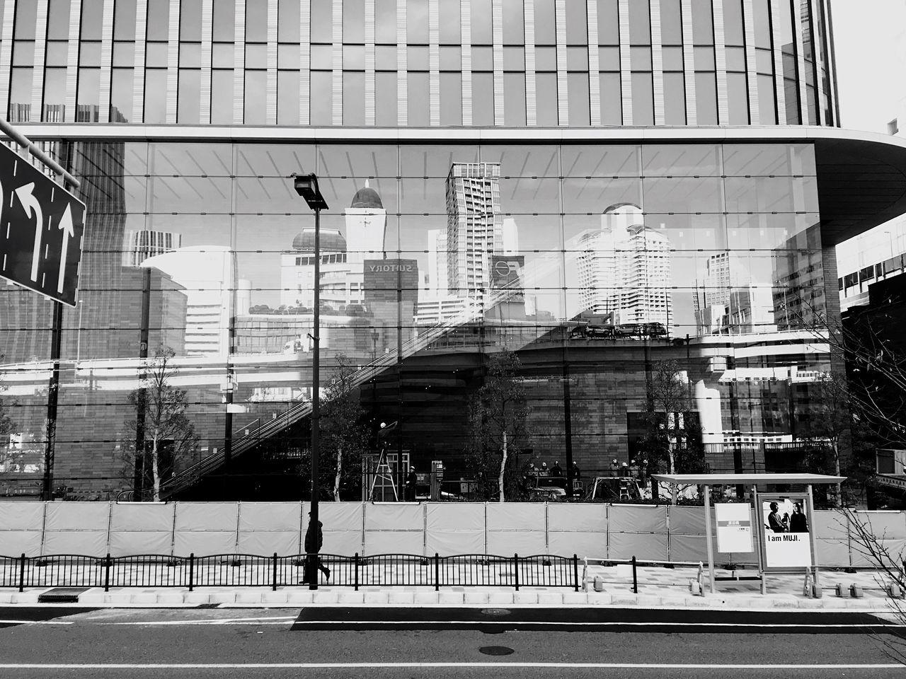 The City Light 2017 Eyeem Awards EyeEm Best Shots EyeEm Best Shots - Black + White Modern Architecture Building Exterior Reflection Curtain Walls Façade Cityscape Osaca