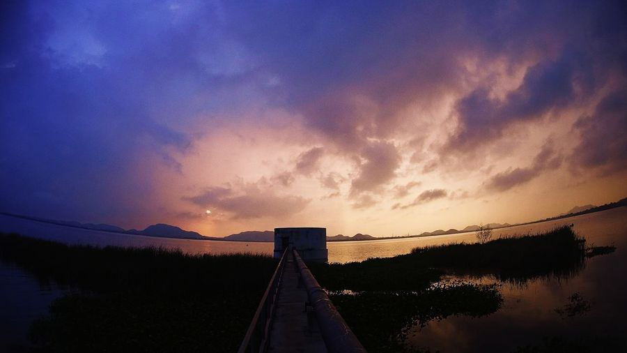 Bridge - Man Made Structure No People Water Sunset Outdoors Nature Sky Day Astronomy SonyActionCam Sony Silhouette Beauty In Nature