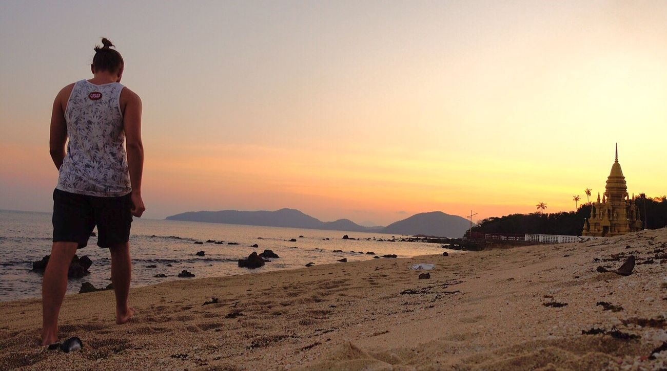 Thailand Sunset Ozean One Person Lifestyles Outdoors Beauty In Nature First Eyeem Photo