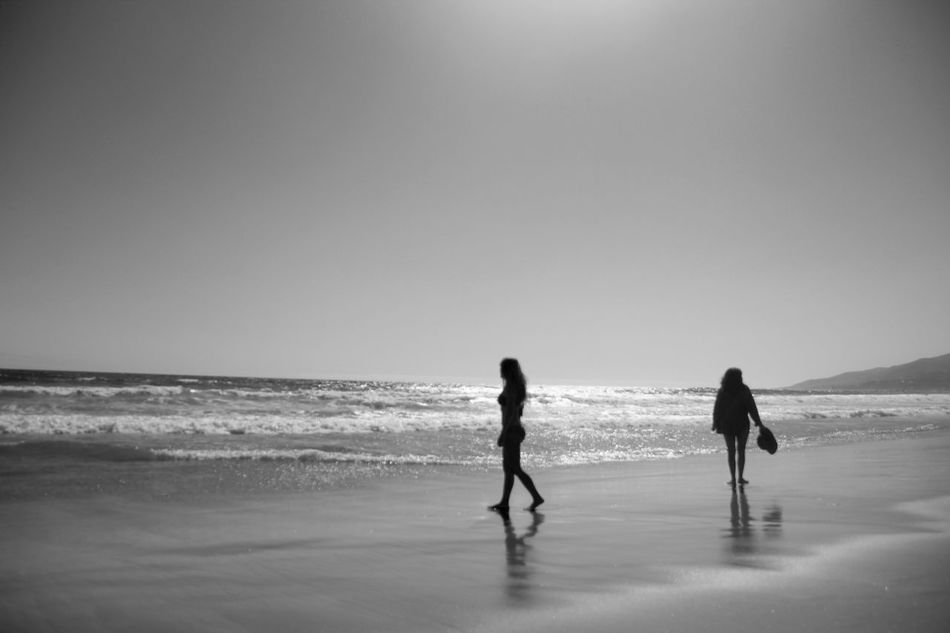 Julia and Becca Beach Beauty In Nature Blackandwhite Clear Sky Copy Space Enjoyment Full Length Fun Horizon Over Water Leisure Activity Lifestyles Nature Person Playing Scenics Sea Seascape Silhouette Tourism Tourist Tranquil Scene Tranquility Two Is Better Than One Vacations Water