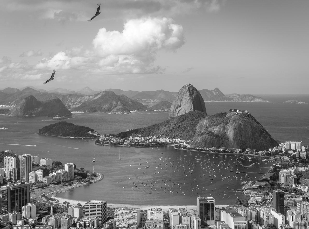 Baía De Guanabara Birds Botafogo Clouds Fine Art Photography Pão De Açucar Rio De Janeiro Sky