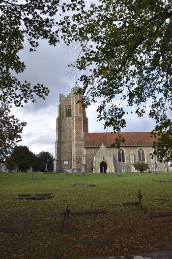 Architecture Building Exterior Built Structure Church Church Yard Day Earls Colne Essex Grass History No People Outdoors Sky Tower Travel Destinations Tree Vertical Window View