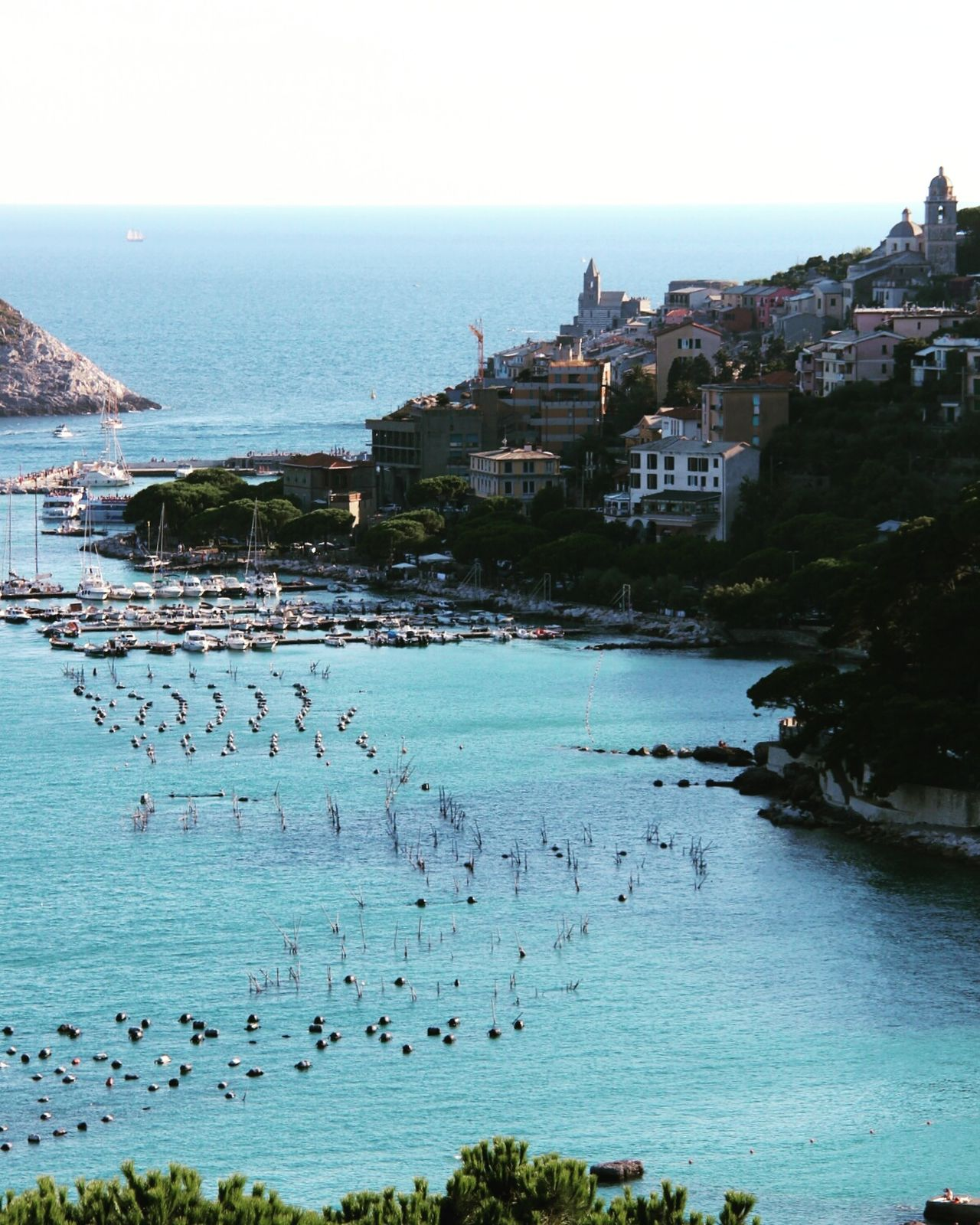 Liguria Italy Seaside Porto Venere Boats Seaside Village