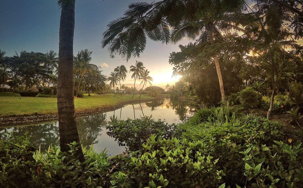 Awesome end to the day in Fiji Tropical GoPro Hero 4 Fiji Scenery Travel EyeEm Best Edits Sunset Relaxing Travel Photography