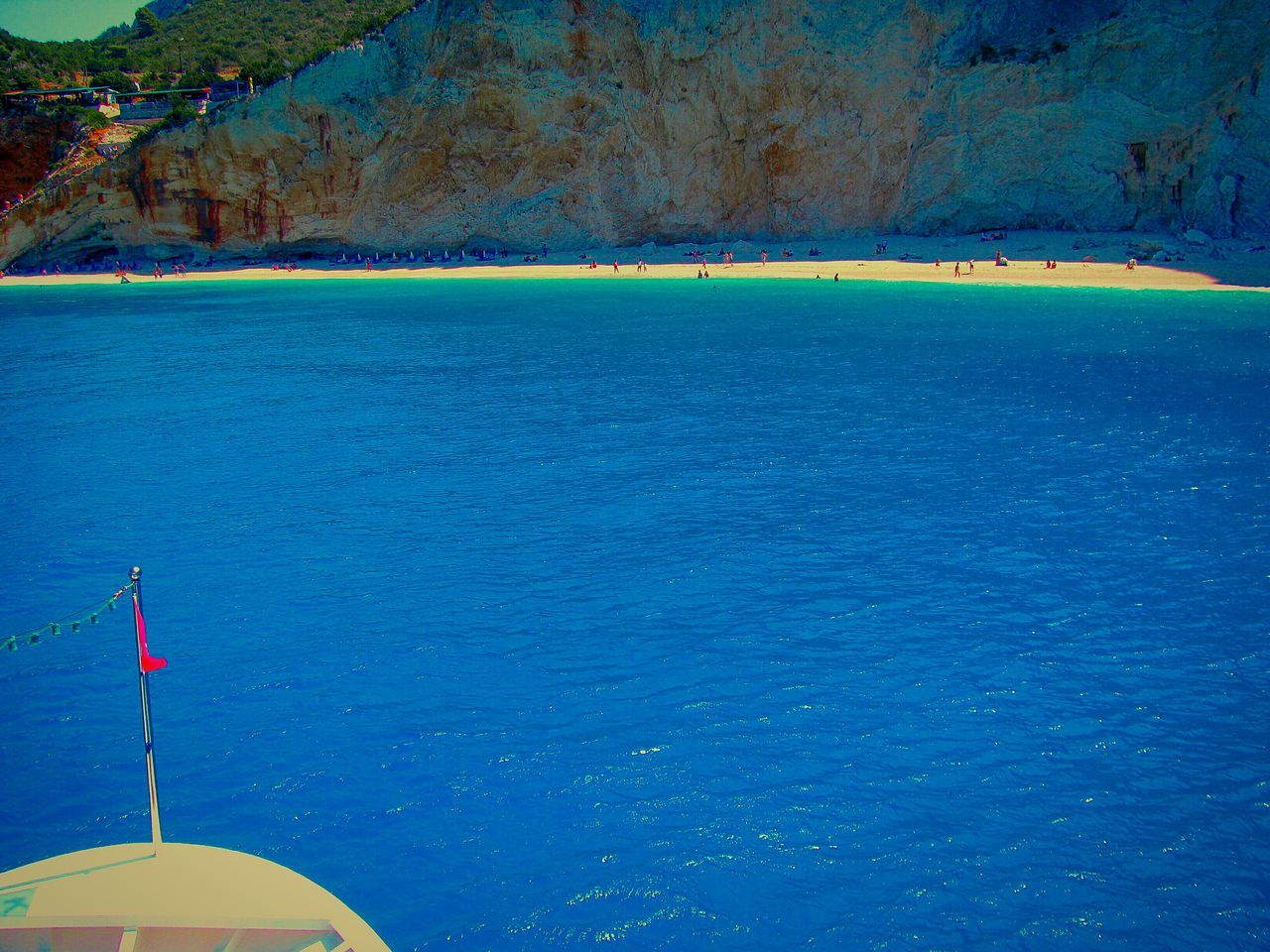 Light And Reflection Summer Light Sea Reflections Water Blue Outdoors Nature Scenics Beauty In Nature Arriving Beach Beach Photography Life Is A Beach Porto Katsiki Beach Lefkada Island Greek Islands Crystal Clear Waters Turquoise Water Shades Of Blue Blue Sea Cliff Steep Cliff Rock Rock Formation