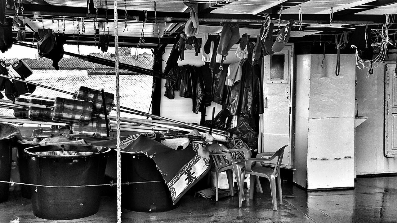 Black And White Photography No People Fishing Boat Large Group Of Objects Fishermen's Life Clothes Clothesline Blackandwhite Fishing Port Malephotographerofthemonth Getting Inspired Everything In Its Place Telling Stories Differently Taking Photos Fishing Time Everyday Lives Every Picture Tells A Story From Where I Stand Black And White Rural Scene Lifestyle - Greek Islands Chios Greece