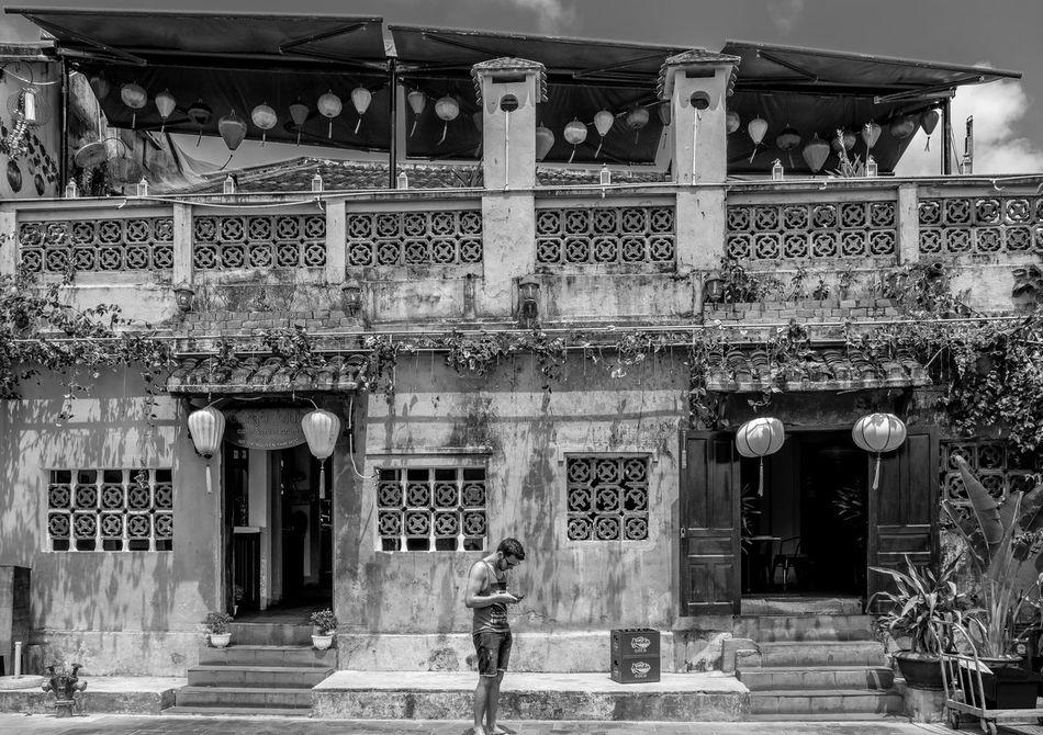 The texer, Hoi An, Vietnam Architecture Building Exterior Black And White Monochrome Photography Monochrome Architecture Outdoors Hoi An FUJIFILM X-T2 Vietnam