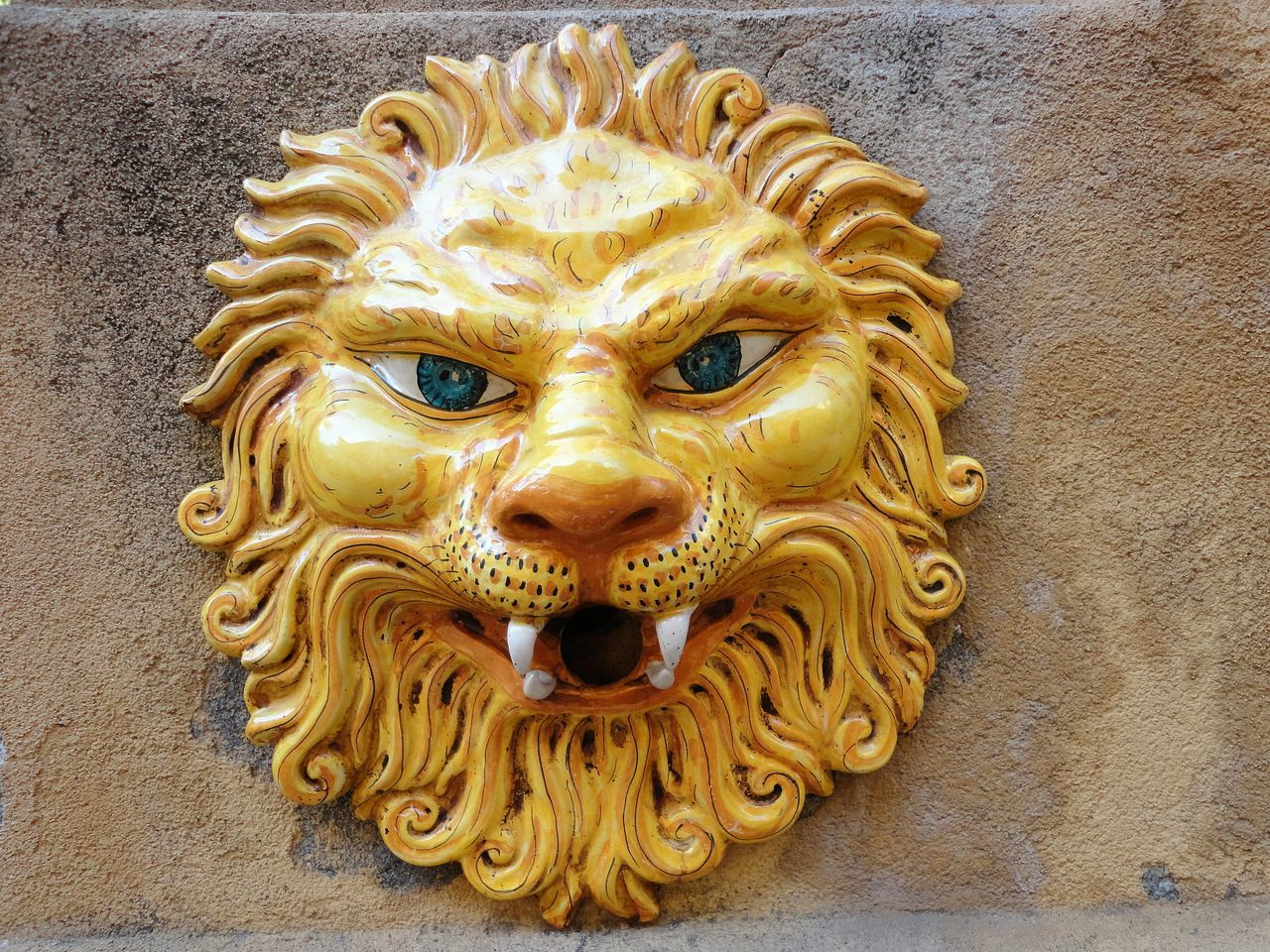 Animal Animal Themes Art Art And Craft Artisanat Artistic ArtWork Carving - Craft Product Ceramic Close-up Lion Sicilian Art Sicily Yellow