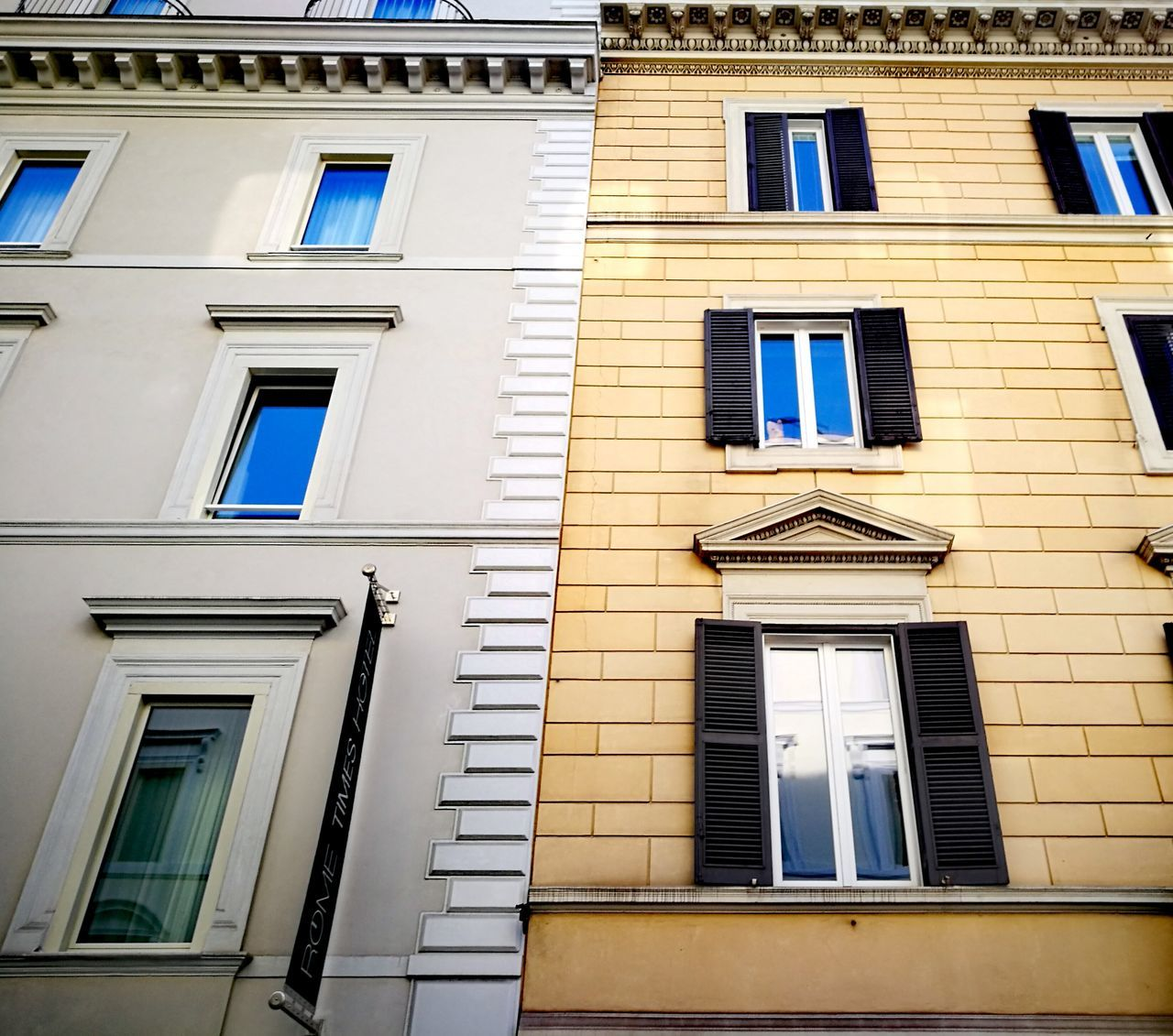 Window Architecture Building Exterior Outdoors Low Angle View No People Built Structure Balcony Day Windows Blue Sky Rome, Italy Rome Italy🇮🇹 The Week On Eyem Cloud - Sky Façade Low Angle View Architecture Visiting Rome Travel Destinations City Architecture_collection Different But Close Welcome To Black