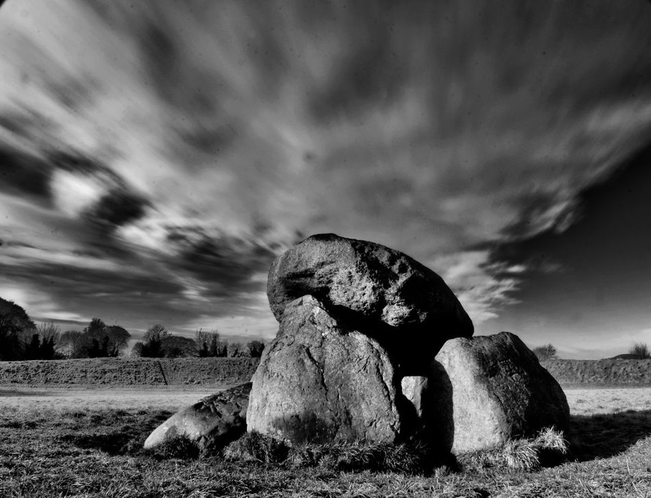 Blackandwhite Boulder - Rock Cloud - Sky Day Extreme Terrain Geology Landscape Long Exposure Nature Ndfilter Neolithic Nikon No People Outdoors Rock - Object Scenics Sky Standing Stones Storm Cloud