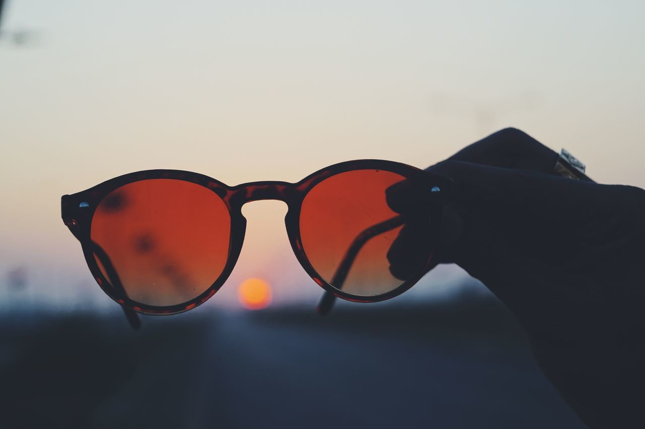 Sunglasses Sunset Close-up Human Body Part Silhouette Eyeglasses  Sky Outdoors Adult Togetherness People Eyesight Human Hand Nature Only Men Adults Only Day